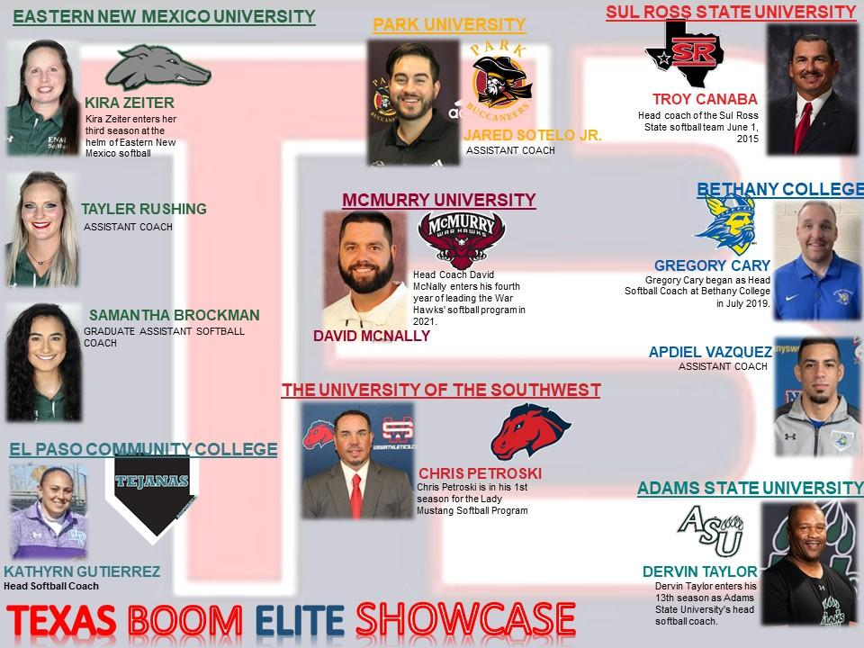 College Coaches confirmed